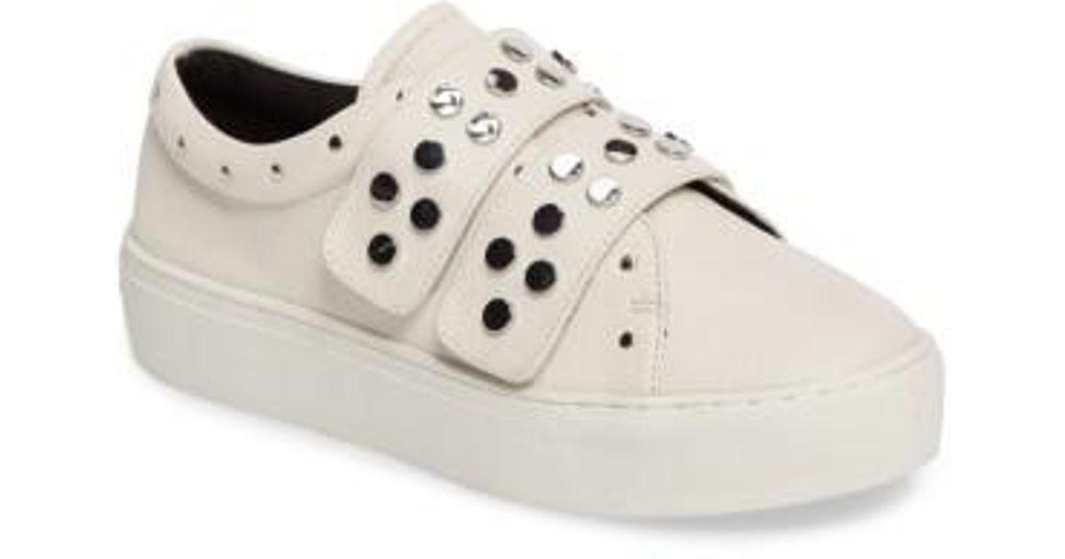 151a30f67db8f Rebecca Minkoff White Natasha Studded Platform Sneaker