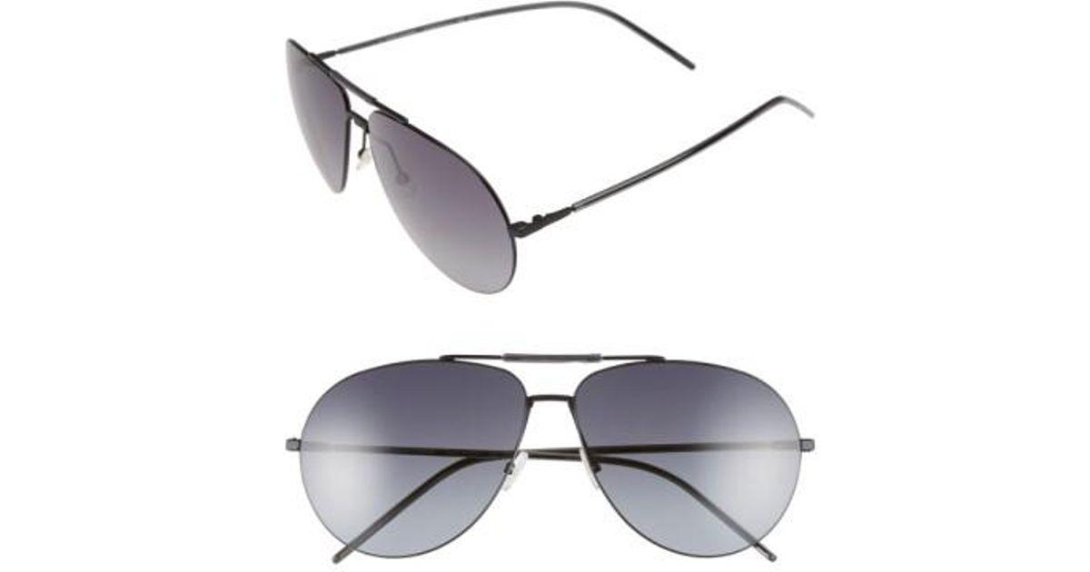 85cc4ae2d2b Lyst - Dior Homme 62mm Aviator Sunglasses in Black for Men