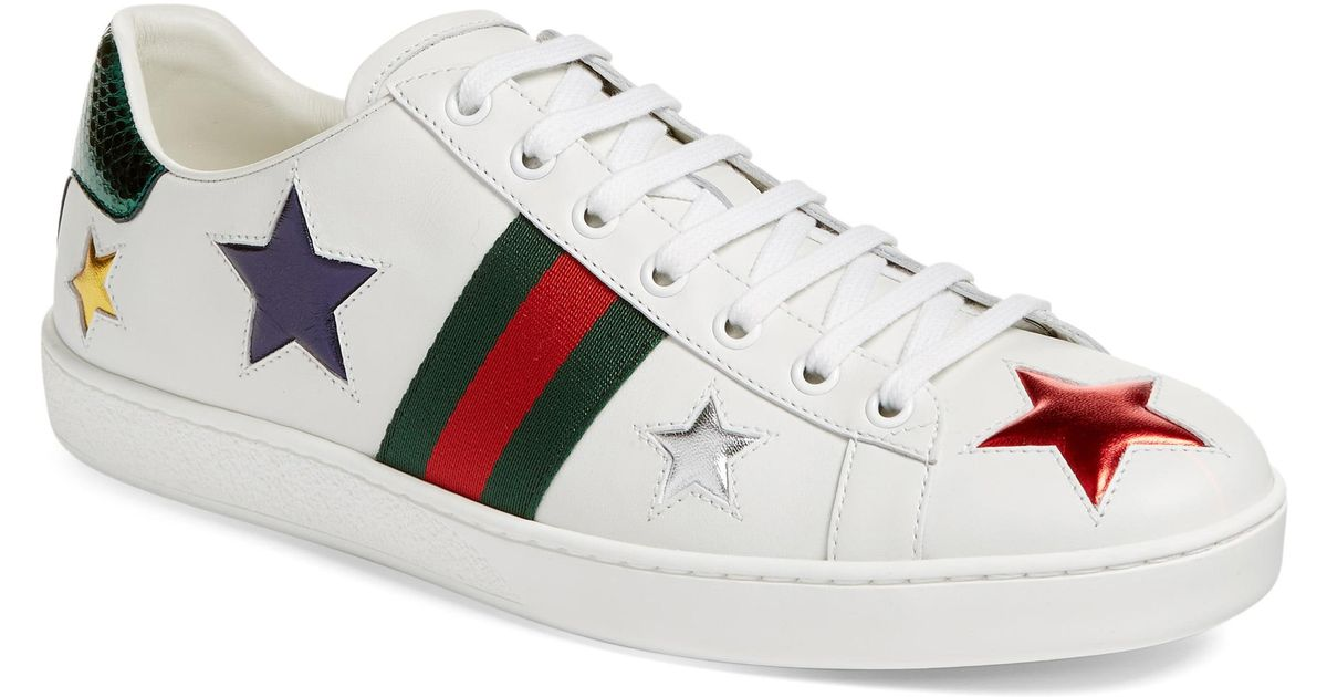 261ce98fe5f Lyst - Gucci New Ace Star Sneaker in White