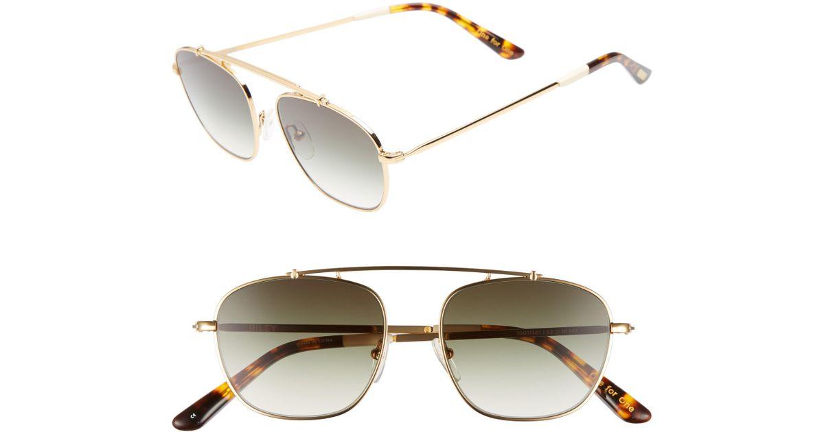8d4abfb90b7e TOMS Riley 52mm Sunglasses - - Lyst