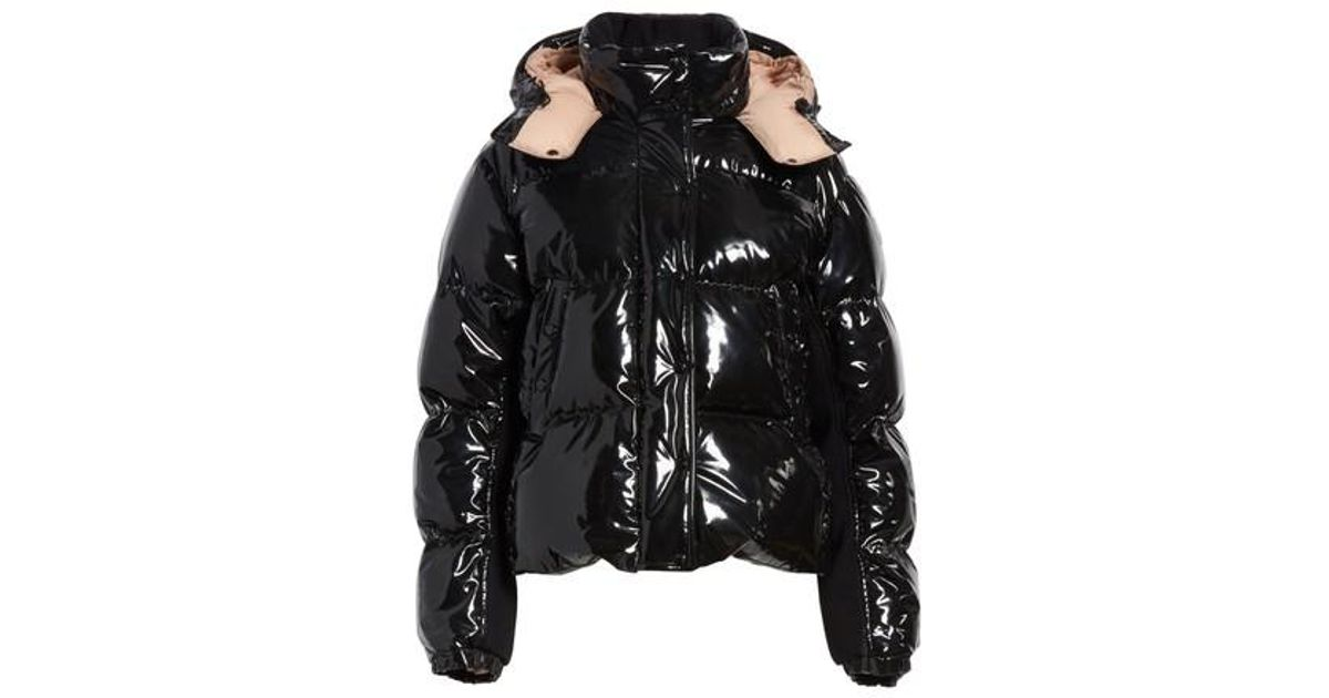 84d7d8437 Moncler Black Gaura Shiny Down Quilted Puffer Coat