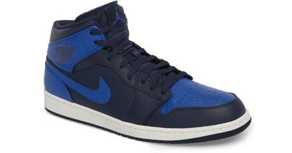 Lyst Nike 'Air Jordan 1 Mid' Los zapatilla En Blanco Para Los Mid' Hombres 9c198d