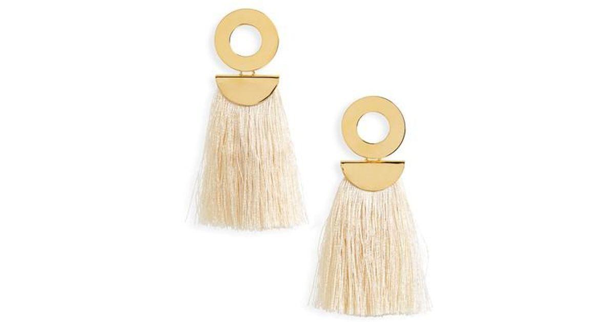 Lizzie Fortunato Go-Go crater tassel earrings LliHxNGuBs