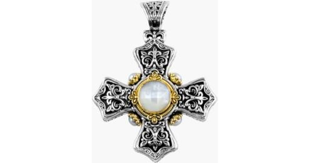 p pendant sterling cross necklace maltese silver and asp