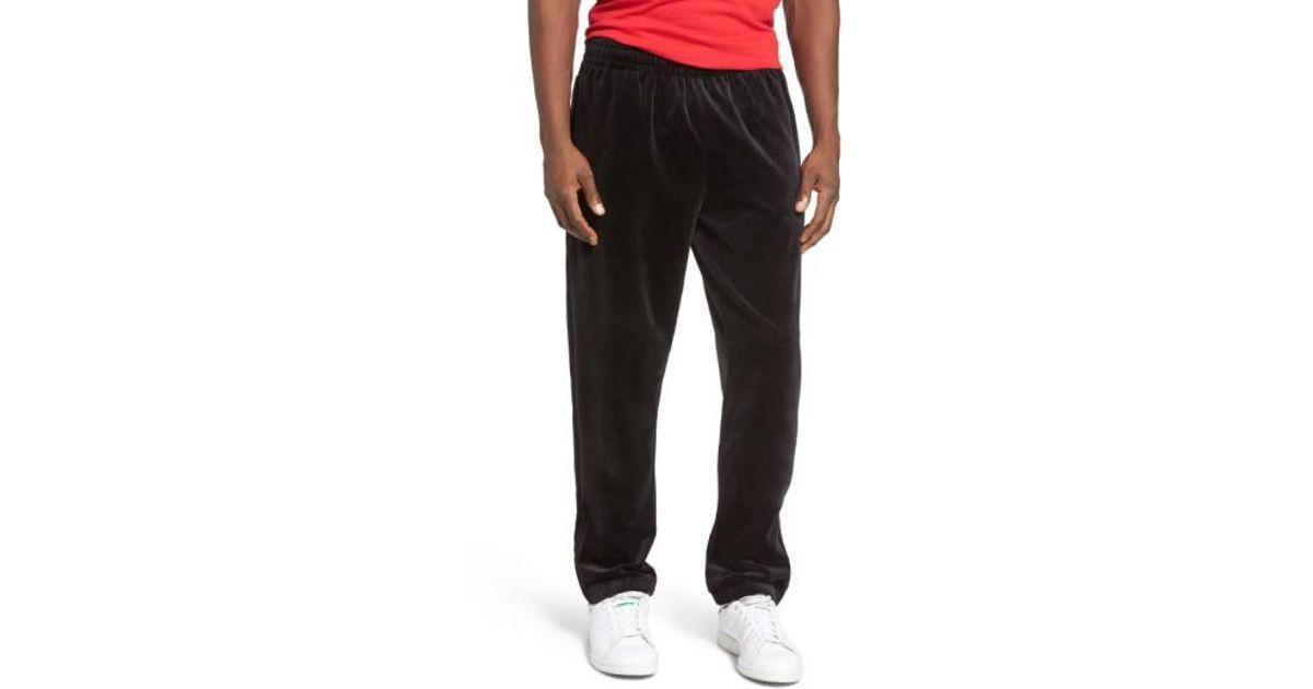 317cdbb917d Fila Usa Slim Fit Velour Track Pants in Black for Men - Lyst
