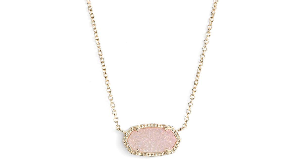 Kendra Scott Elisa Pendant Necklace In Pink Lyst