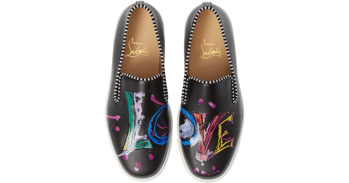 quality design f1b20 63bcf Christian Louboutin Multicolor Loubi Love Slip-on Sneaker