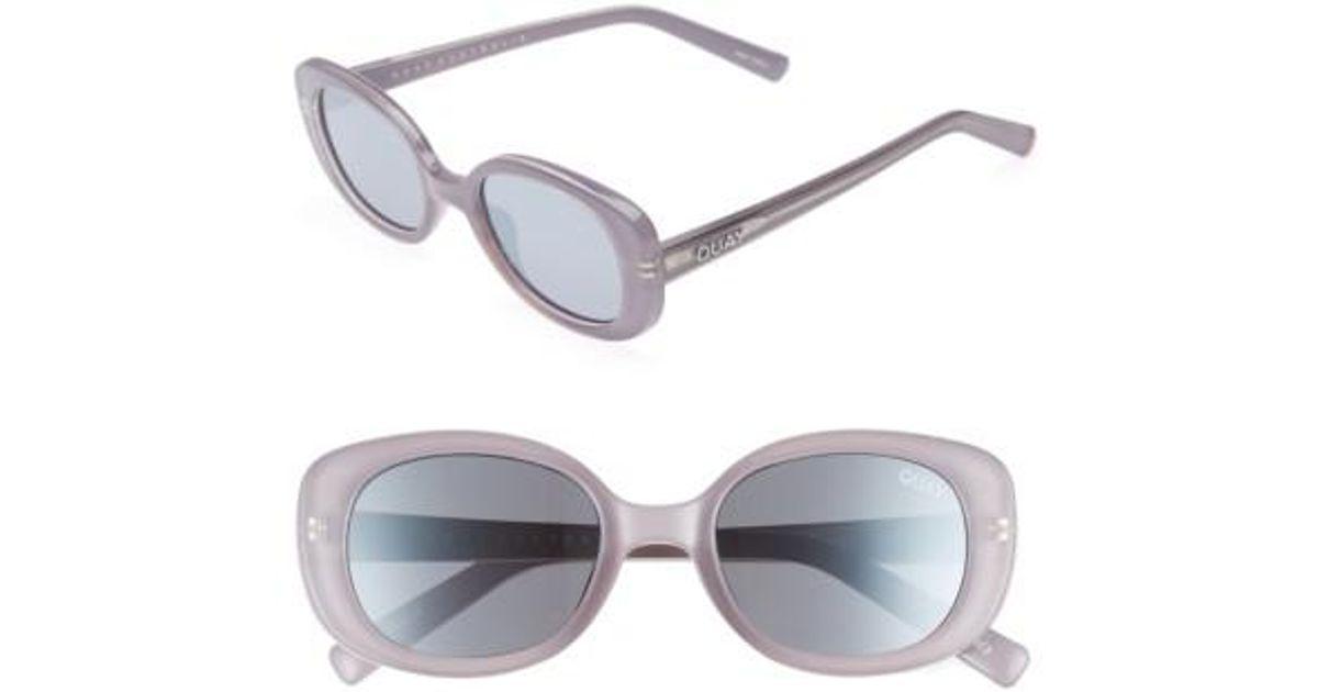 874ea0ceb0e Lyst - Quay Lulu 49mm Sunglasses - Lilac  Silver in Metallic