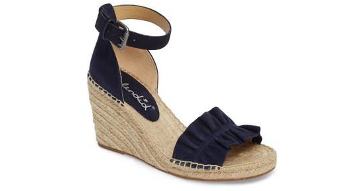 c74d5422440 Splendid Blue Bedford Espadrille Wedge Sandal