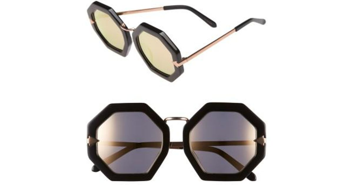 7eb7032db91 Lyst - Karen Walker  moon Disco  53mm Sunglasses in Black