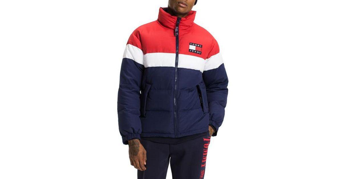 Tommy Hilfiger Puffer Jacket In Blue For Men Lyst