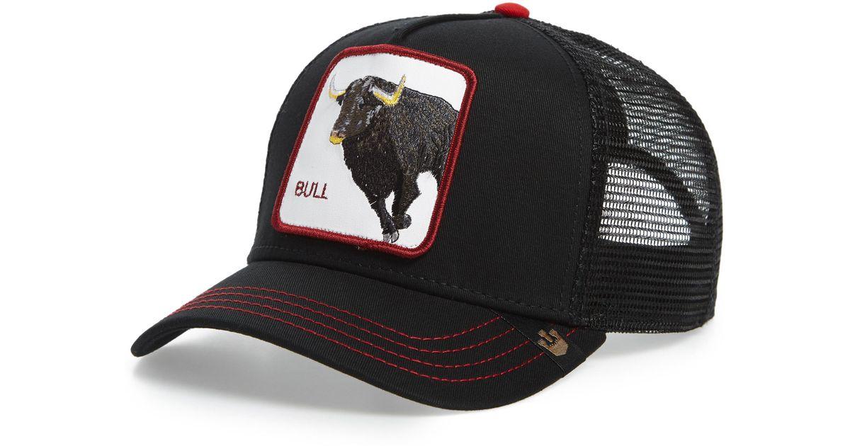 c8a23f8e329371 Goorin Bros Bull Honky Trucker Hat - in Black for Men - Lyst