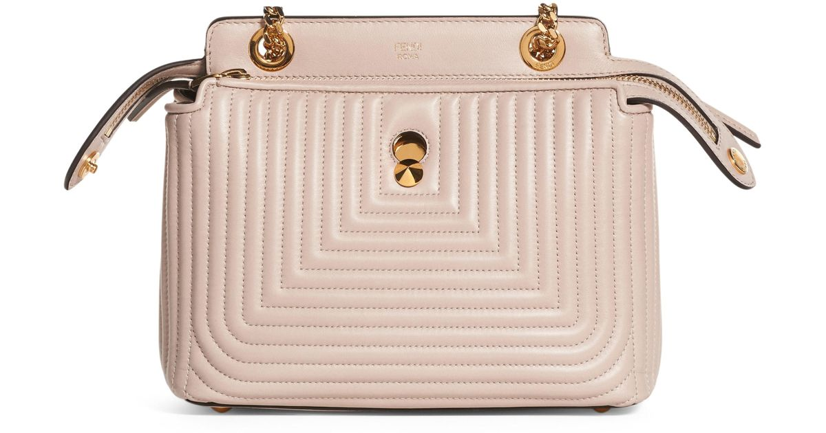 5036687b64b1 Lyst - Fendi Dotcom Click Quilted Leather Satchel in Pink
