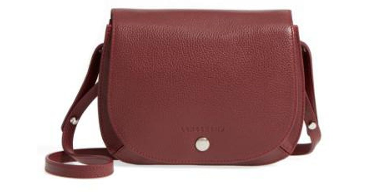e7e764d3d5f4d1 Longchamp Small Le Foulonne Leather Crossbody Bag in Brown - Lyst