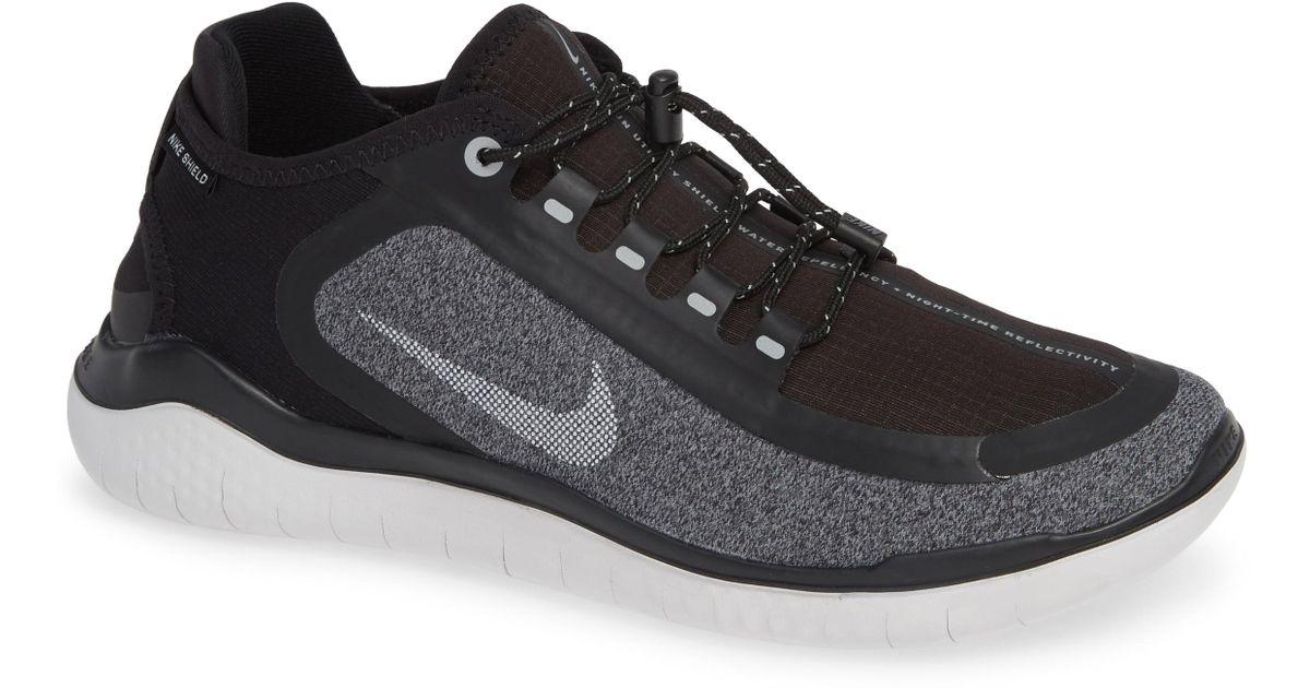 2b95fb3c6c2 Lyst - Nike Free Rn 2018 Shield Water Repellent Running Shoe in Black for  Men