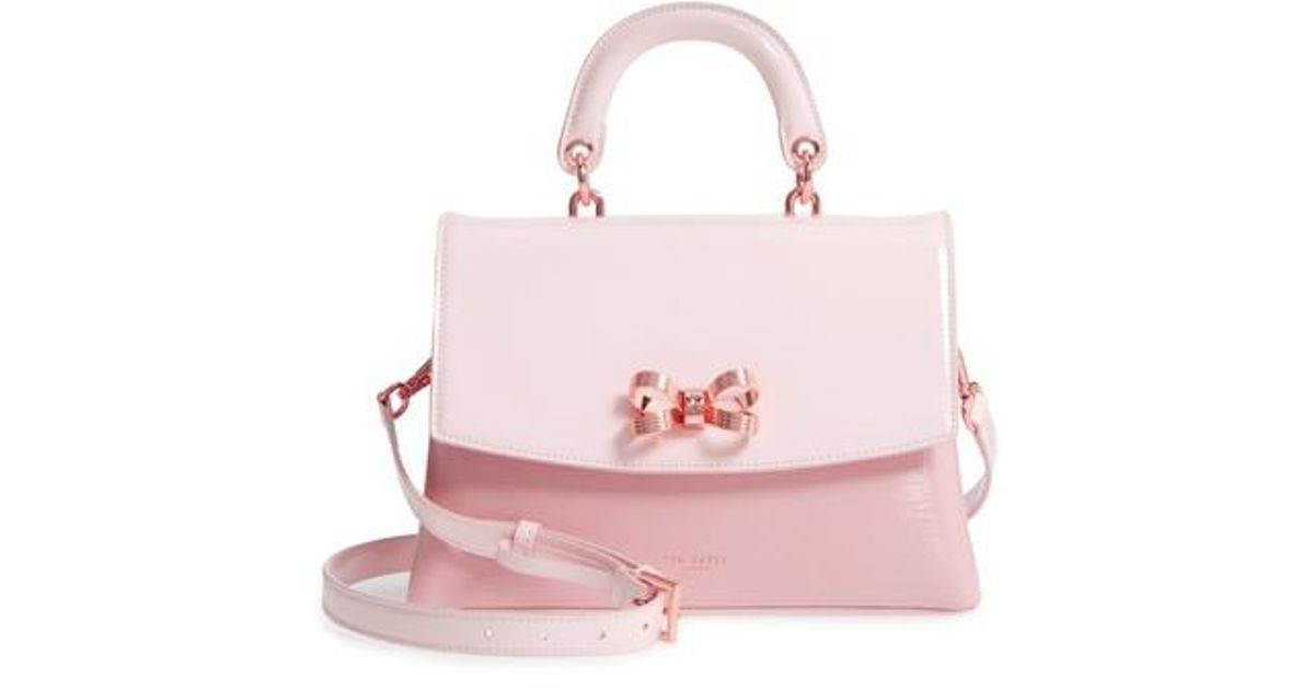 ae602e7d04d8 Lyst Ted Baker Lilacc Lady Bag Leather Top Handle Satchel In Pink