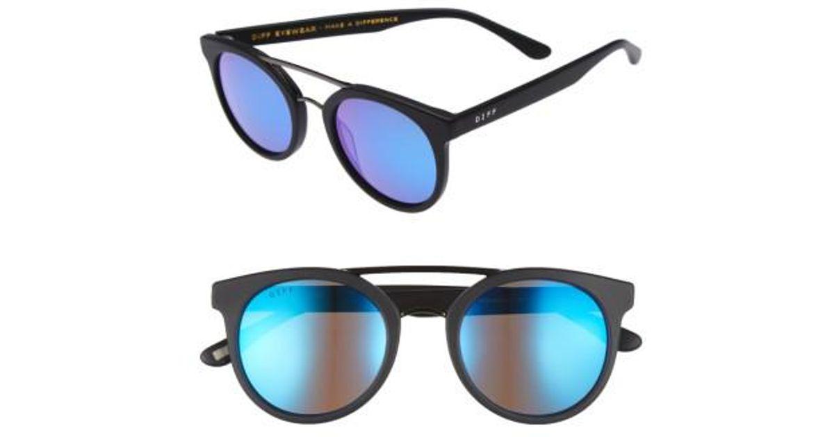 9231b32167 Lyst - DIFF Astro 49mm Polarized Aviator Sunglasses in Blue