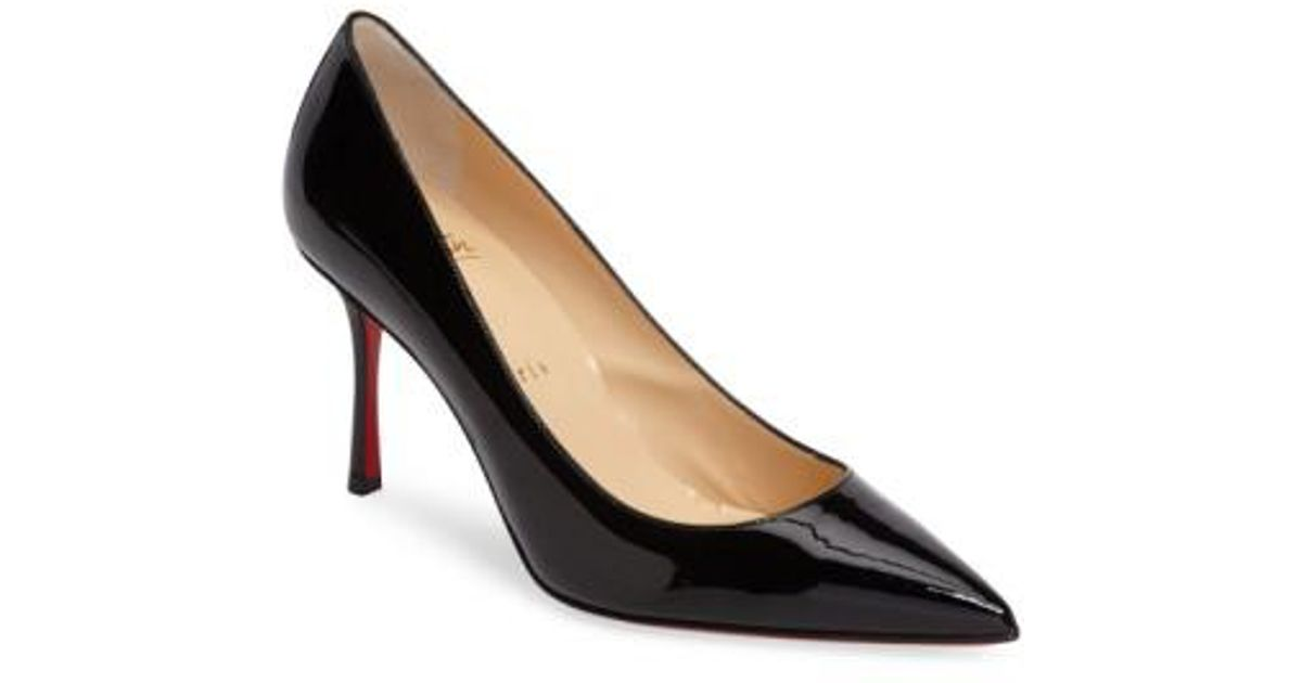 Lyst - Christian Louboutin Decoltish Pointy Toe Pump in Black 310982ccd2f6