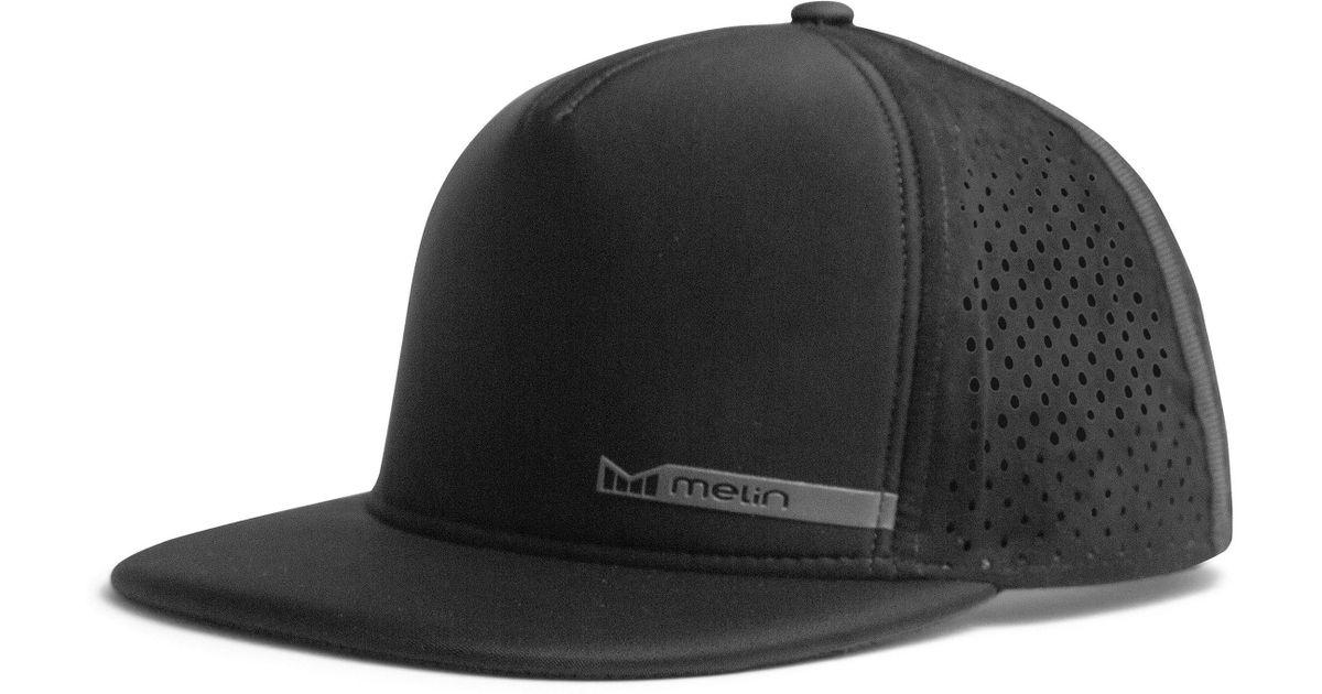77506f101 Melin - Black 'amphibian' Split Fit Snapback Baseball Cap for Men - Lyst