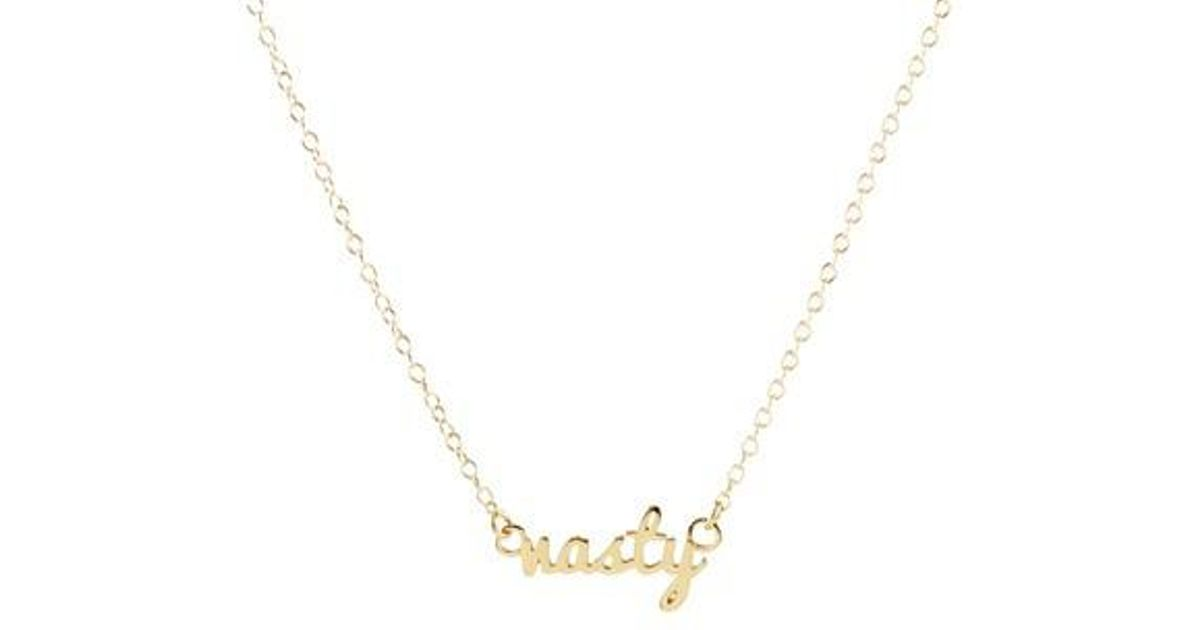products lettering gold necklace chance name script xlii