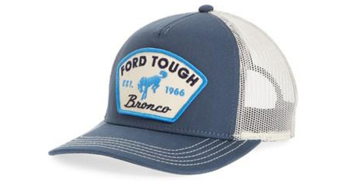Lyst - American Needle Valin Ford Bronco Trucker Hat in Blue for Men 5d1c6bb0224