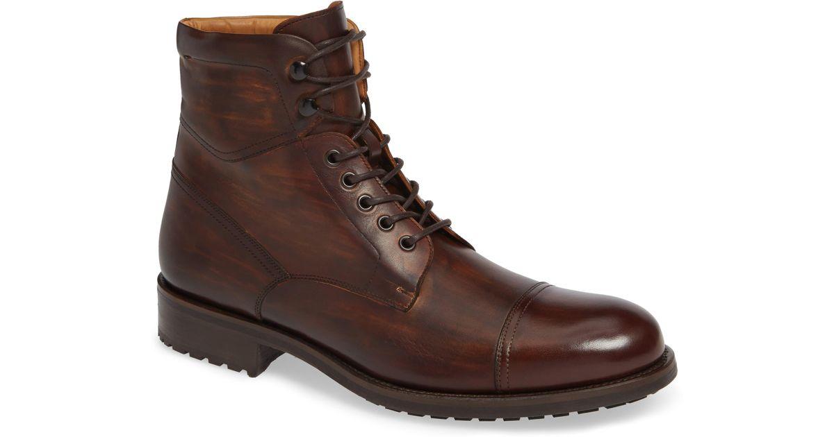 4d5c30059ee Magnanni Shoes Brown Peyton Cap Toe Boot for men