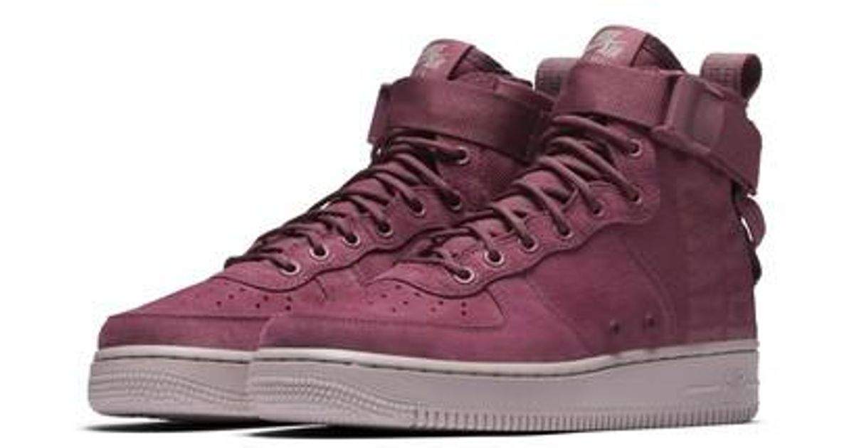 online retailer 0e709 c981a Nike Purple Sf Air Force 1 Force Is Female Mid Sneaker