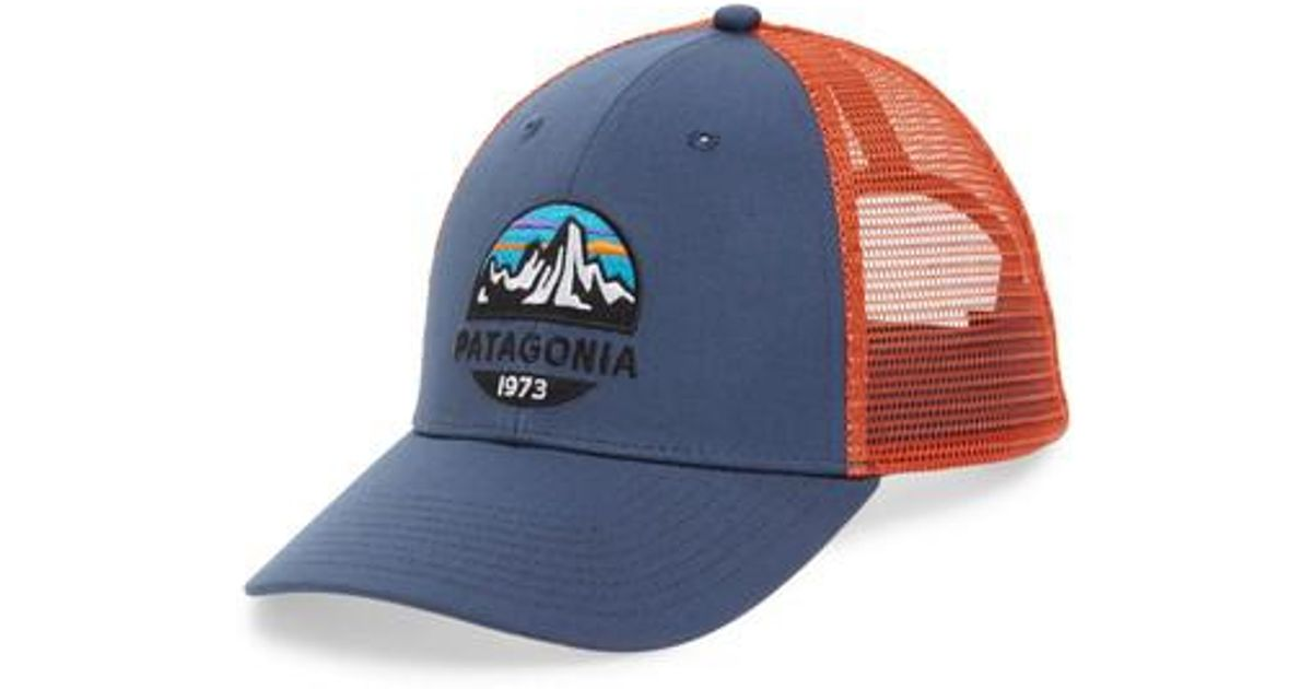 9f965f437a5 Lyst - Patagonia Fitz Roy Scope Lopro Trucker Cap in Blue for Men