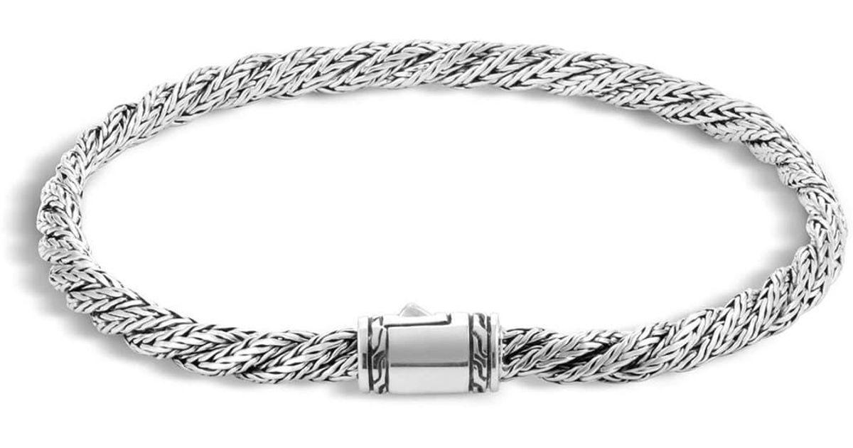 John Hardy Classic Chain Slim Flat Twisted Bracelet In