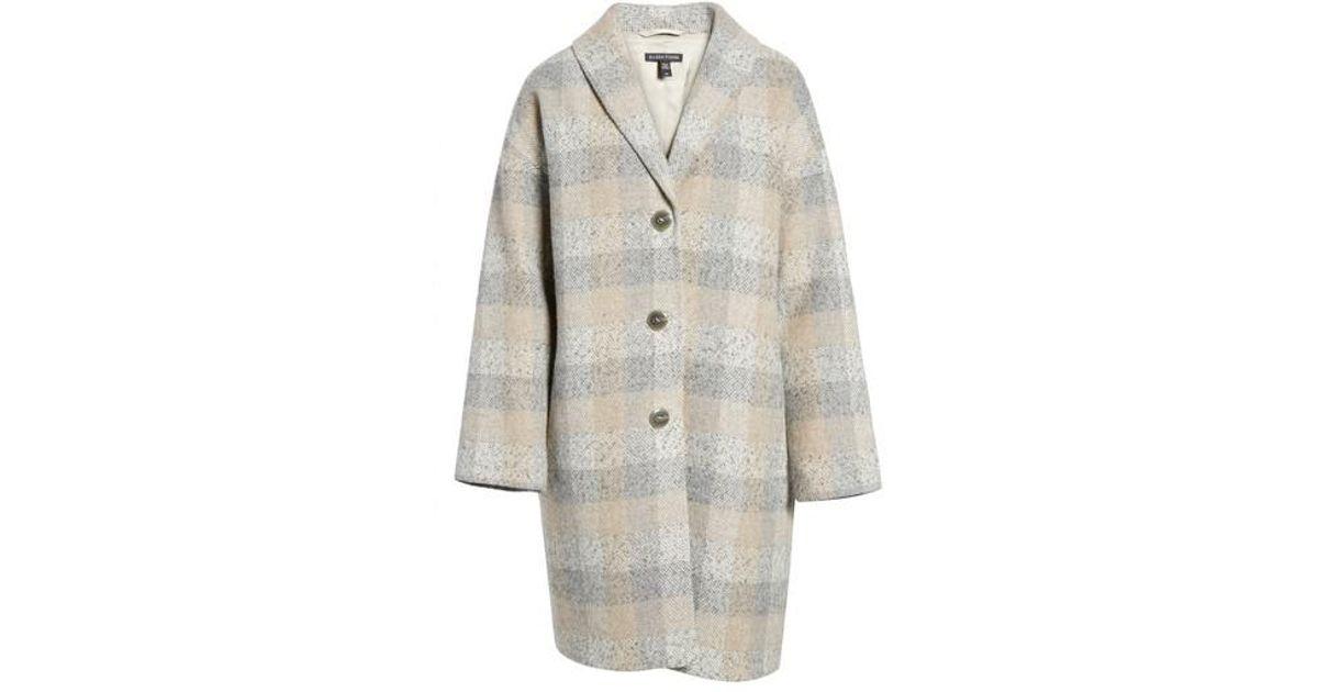 0dc697580fa Lyst - Eileen Fisher Plaid Alpaca Blend Coat