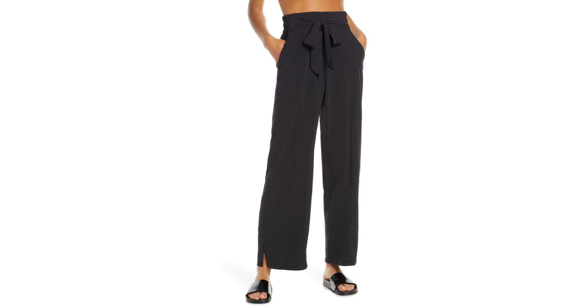 ca6e7321f3d04 Lyst - Zella Breeze By Wide Leg Pants in Black