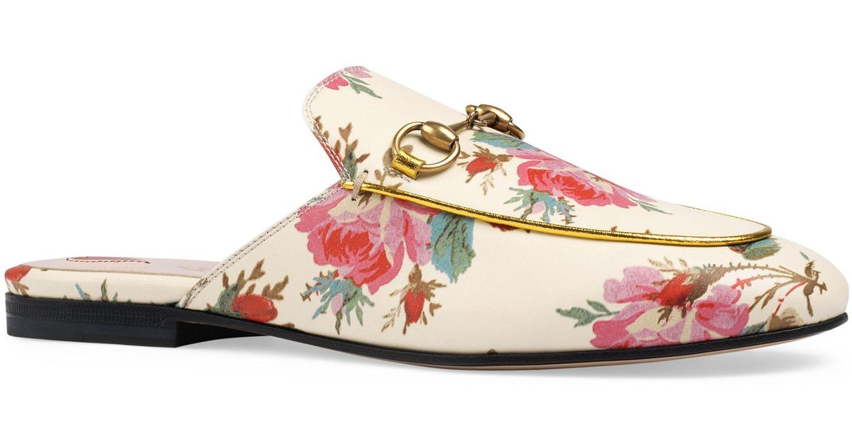 2ad93db7368 Lyst gucci princetown floral loafer mule jpeg 1200x630 Princetown floral