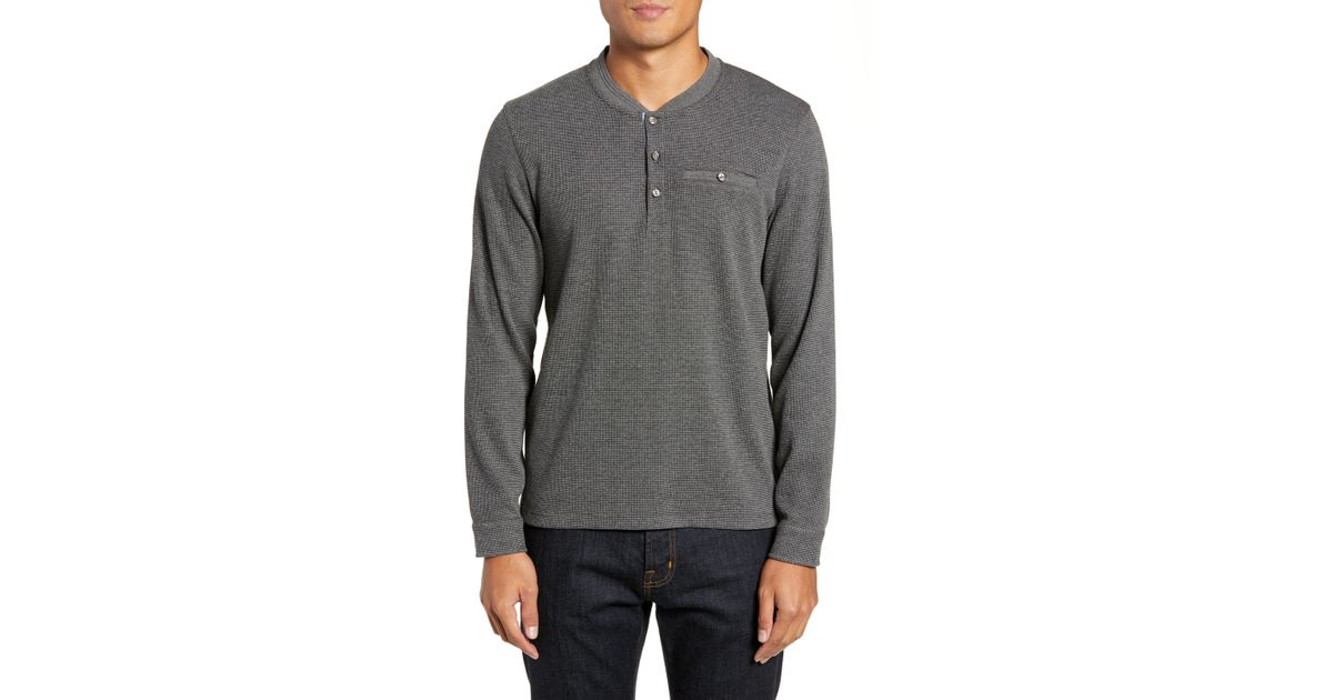 dc51d6b4f0bf6f Lyst - Ted Baker Slim Fit Mojave Thermal Pocket Henley in Gray for Men -  Save 23%