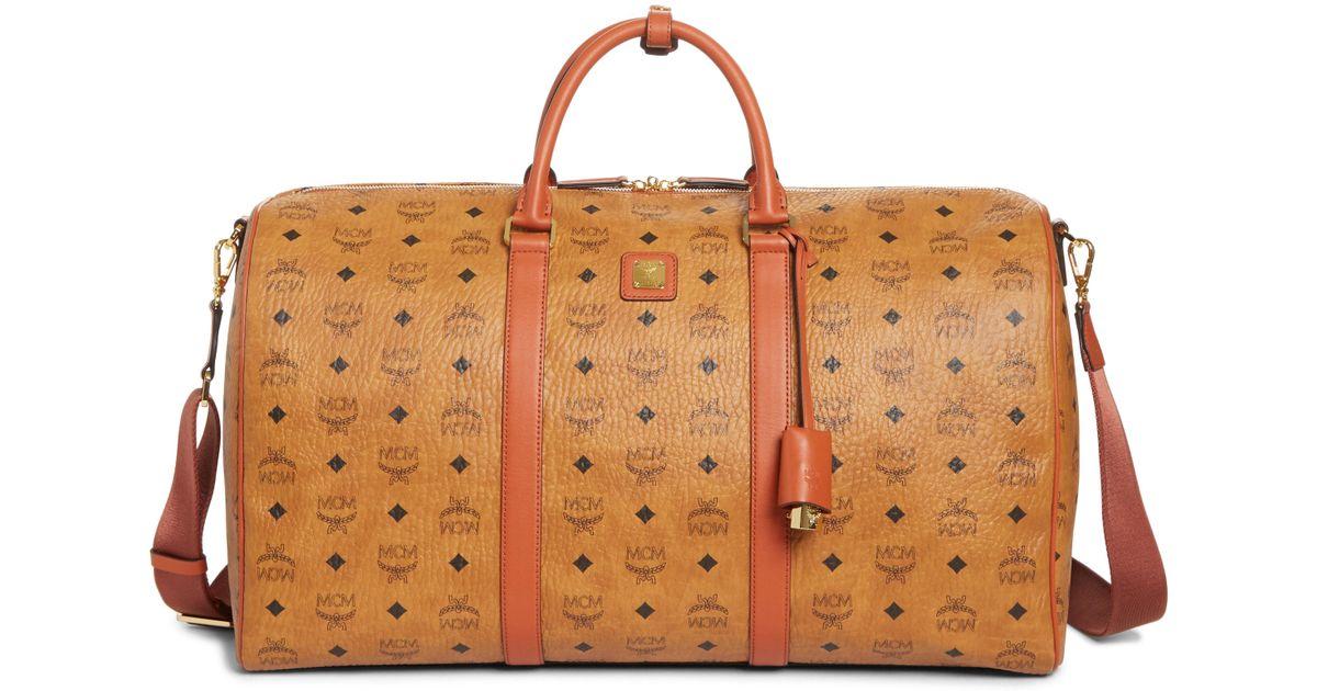 cf2bf441c5f Lyst - MCM Large Vintage Weekend Bag in Brown