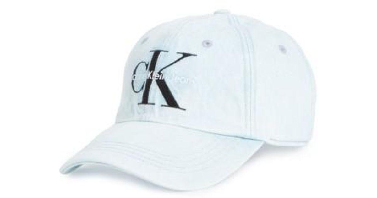 62bc63bd658 Lyst - Calvin Klein Calvin Klein Ck Jeans Ball Cap in Blue for Men