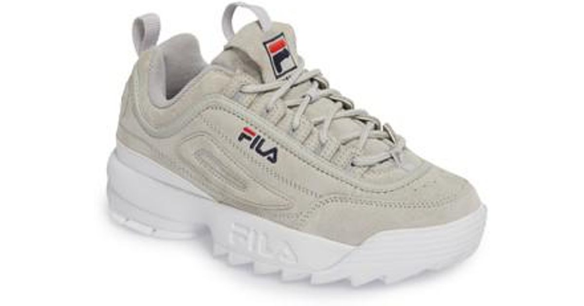 61bc71f58f3e Lyst - Fila Disruptor Ii Premium Suede Sneaker in Gray