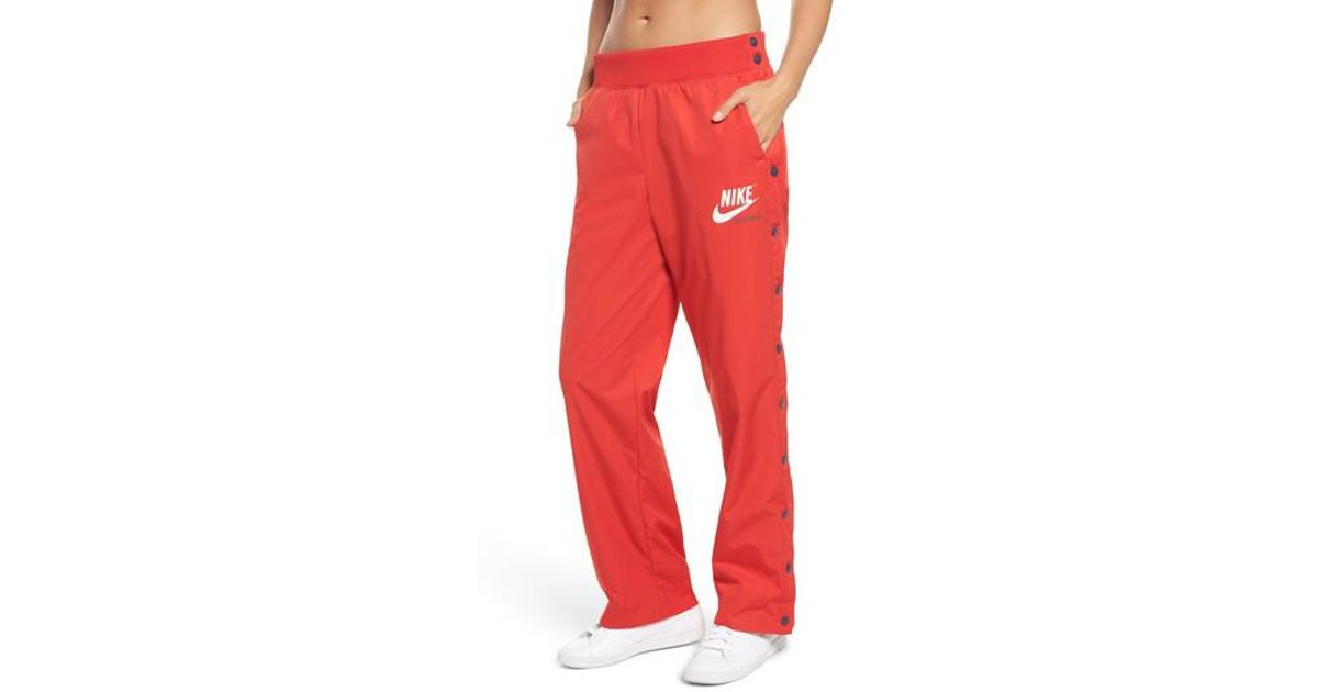 633714c90b Nike Red Sportswear Archive Snap Track Pants