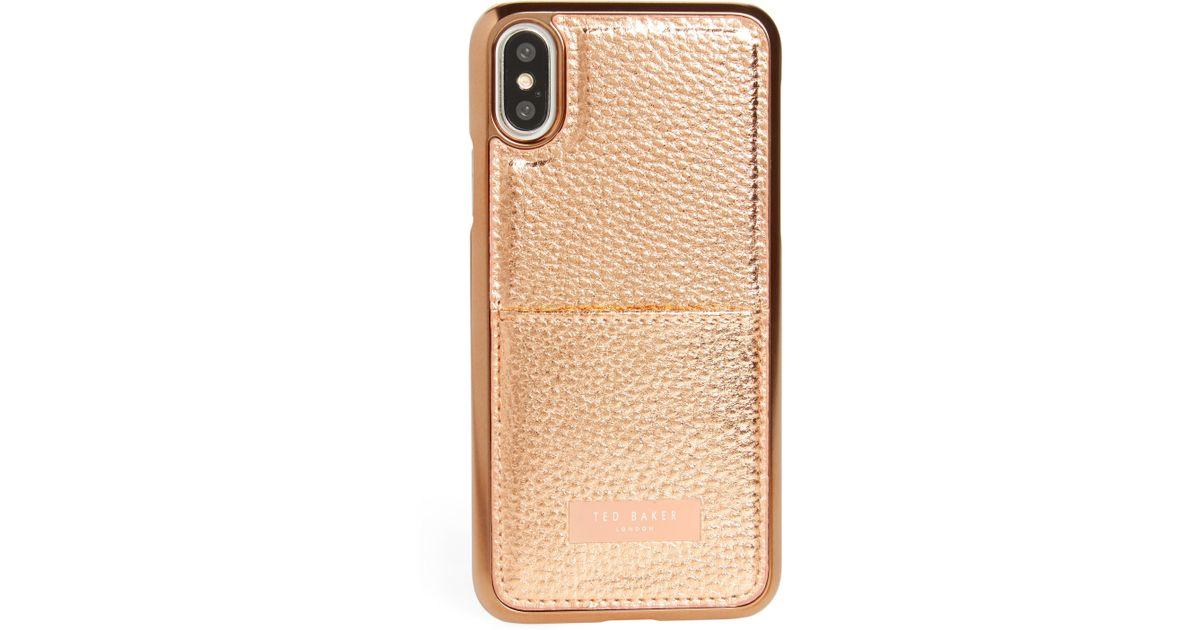 67fd46d74ee083 Lyst - Ted Baker Korrii Cardholder Iphone X   Xs Case -