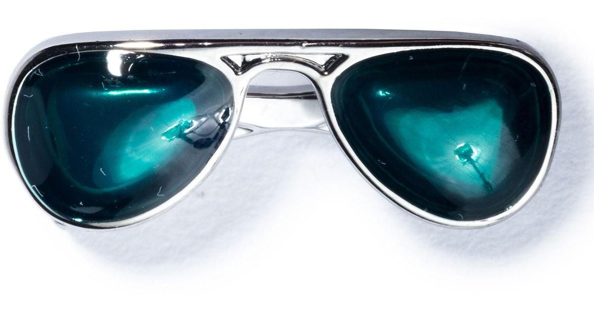 6bc2b607b Hook + Albert Sunglasses Lapel Pin in Blue for Men - Lyst
