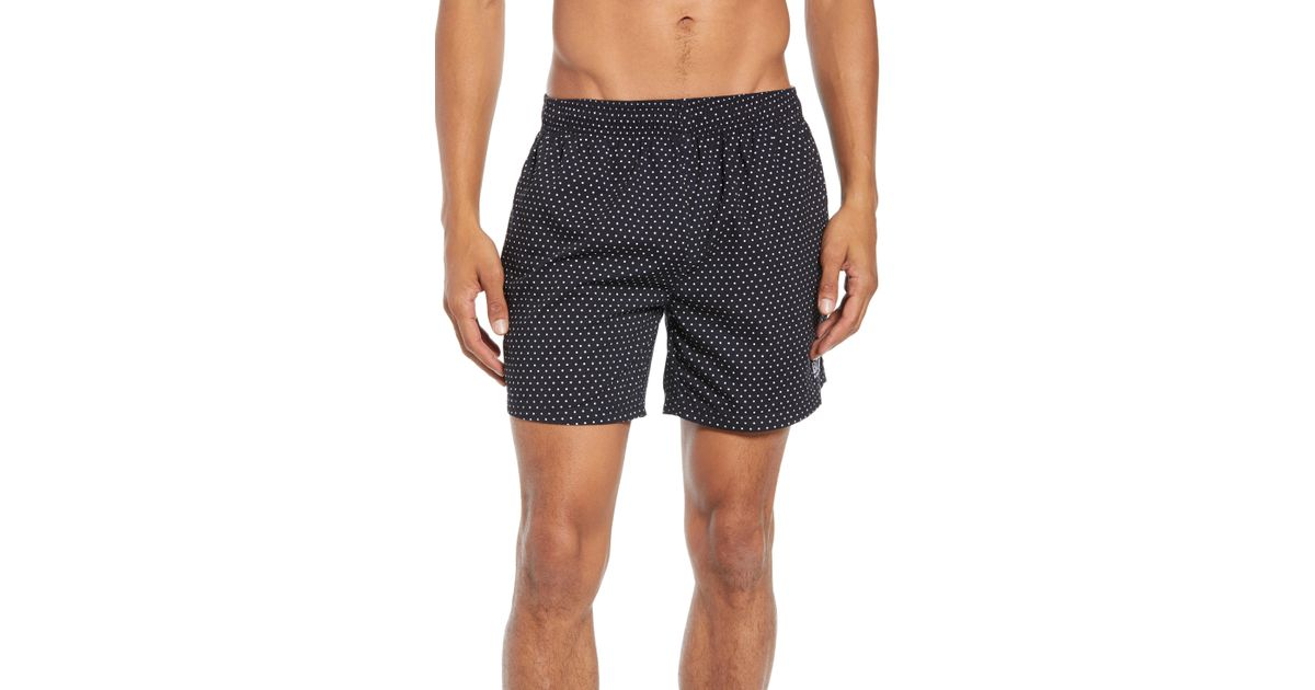d77d61adb2 BOSS Boss Pike Polka Dot - Print Swim Shorts in Black for Men - Save 25% -  Lyst