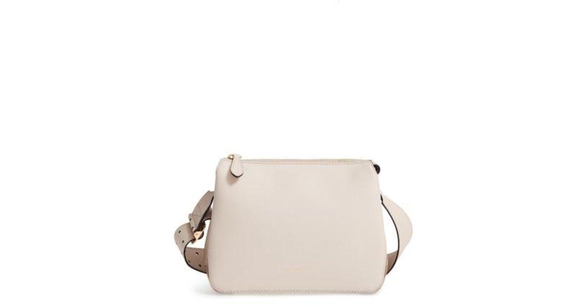 70c5f3282d38 Lyst - Burberry Helmsley House Check Leather Crossbody Bag