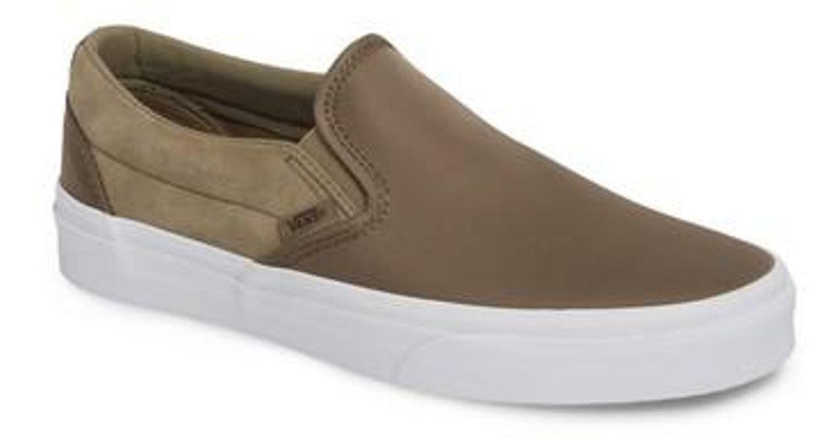 77a92702cf Vans Green Surplus Nylon Slip-on Sneaker for men