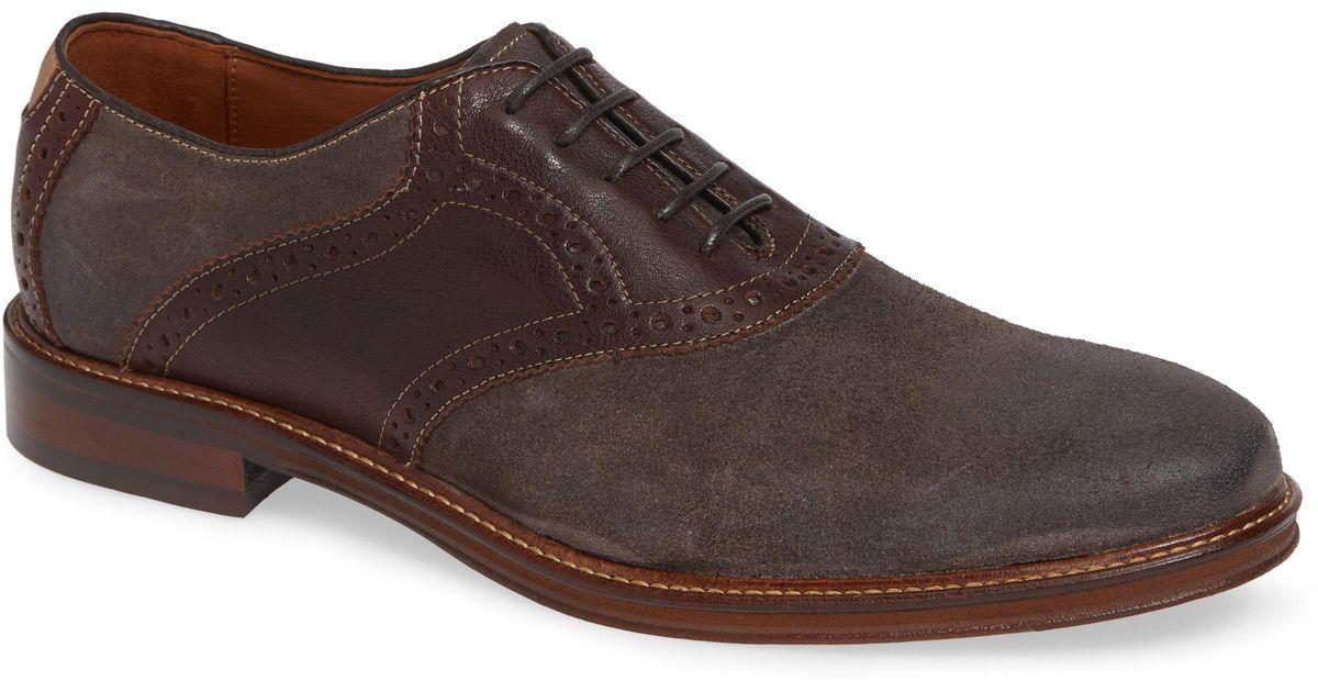 8b2e9d1fa88 Lyst - Johnston   Murphy Warner Saddle Shoe in Brown for Men