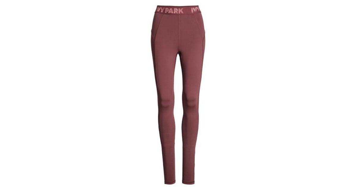 da4279fcbde5c8 Ivy Park High Waist Keyhole Detail Ankle Leggings in Purple - Lyst
