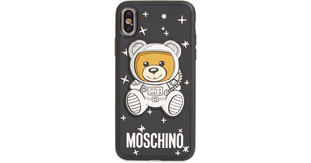 newest b86fa fce4a Moschino Black Ufo Bear Iphone X & Xs Case