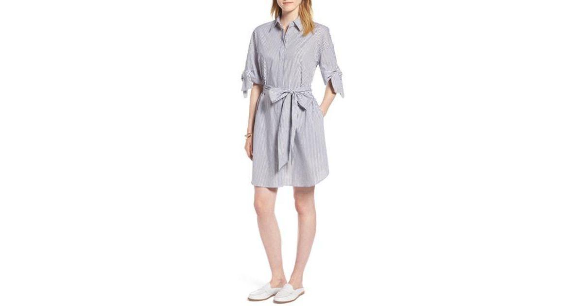 1625be0f634f Lyst - Nordstrom 1901 Stripe Shirtdress