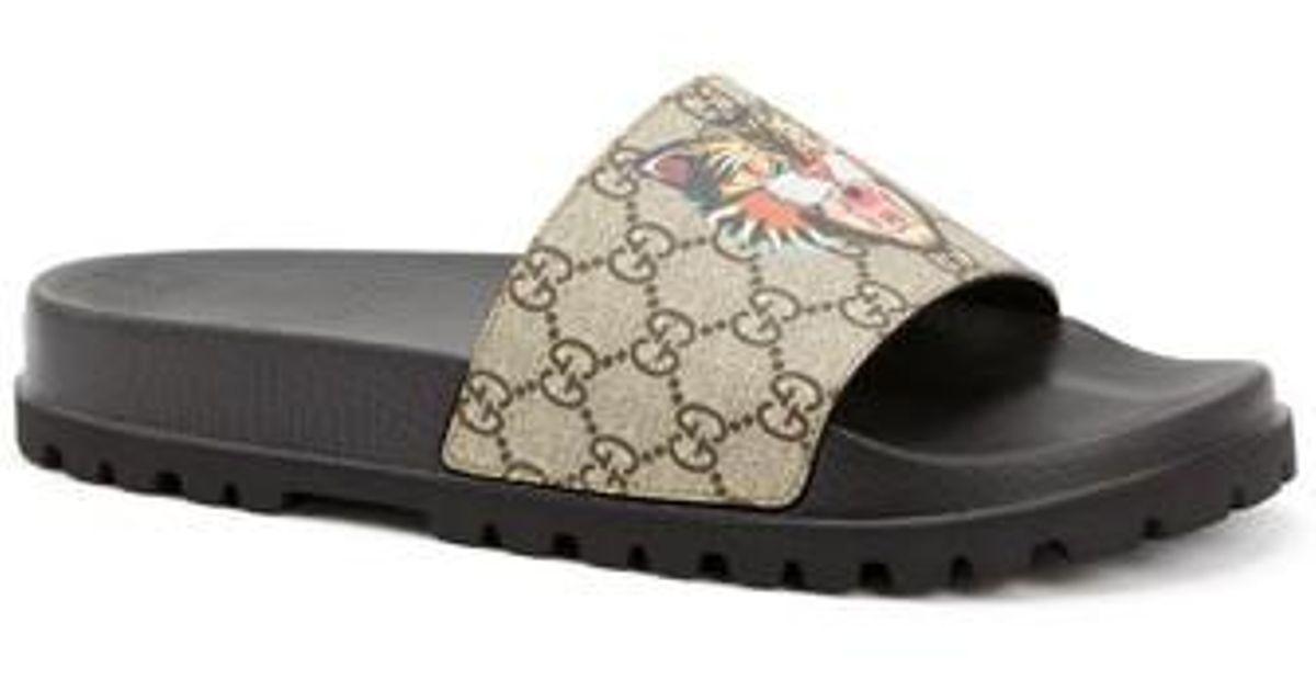 272f4bf3c1e Lyst - Gucci  pursuit Treck  Slide Sandal in Natural