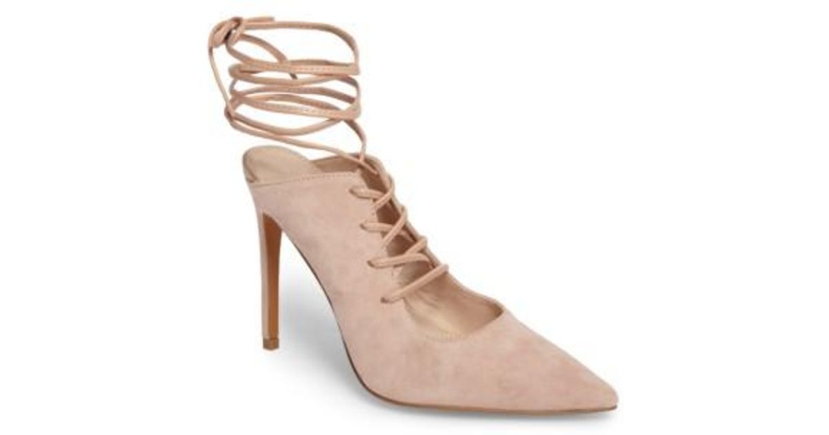 2926907d6973 Lyst - TOPSHOP Giggle Ghillie Pump in Natural