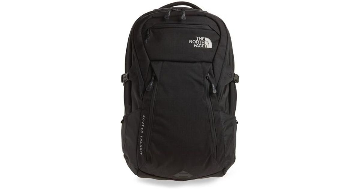 lower price with lower price with online shop The North Face Black Router Transit Backpack for men