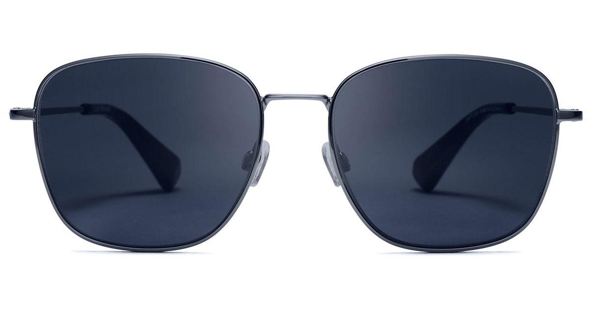 cce064fcf3d Lyst - MVMT Outlaw 55mm Polarized Sunglasses - Gun Dark Blue in Blue for Men